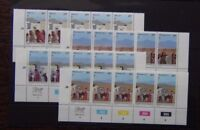 Bophuthatswana 1982 Easter set in control strips of 5 MNH