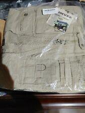 Humvee Safari Photo Fishing Hunting Khaki Tan Mens Small Vest Sizes 21 Pockets