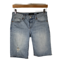 Lucky Brand Womens Jeans Shorts Stretch Denim Bottoms Bermuda Ripped Size 2/26