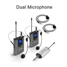 Wireless System With Dual Headset Mics/lavalier Mics 500mhz-930mhz LCD Display
