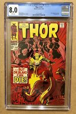 Thor #153 CGC 8.0 White Pages - 1st book length story - Loki cover