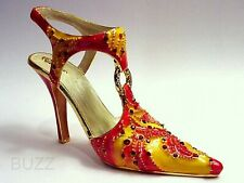 Eternity Vibrant Reds–Oranges Metal 24K Gold & 50+ Crystals Just The Right Shoe