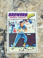 1977 Topps Robin Yount #635 Milwaukee Brewers MLB Baseball Card