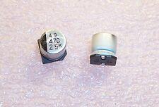 QTY (40)  470uf 25V 105' LOW IMPEDANCE SMD  ELECTROLYTIC 25CV470KX SANYO