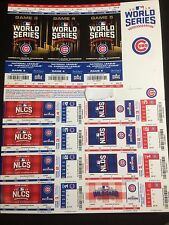 Chicago Cubs 2016 Playoff Strip Postseason NLCS NLDS World Series Stubs Tickets