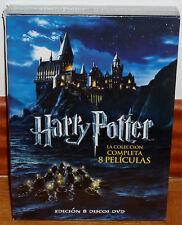 HARRY POTTER LA COLECCION COMPLETA 8 DVD PRECINTADO NUEVO FANTASIA (SIN ABRIR)