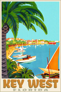 Key West Florida Atlantic Gulf Tropic Travel Poster Roger Broders Art Print 313