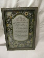 Vintage Framed Print Let'S Not Forget Each Other Silver Gold Print Wall Art