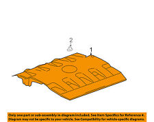 Cadillac GM OEM 04-05 DeVille Engine Appearance Cover-Manifold Cover 12585374