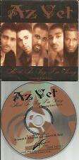 AZ YET w/ PETER CETERA Hard to Say w/RARE DAVID FOSTER USA CARD SLEEVE CD single