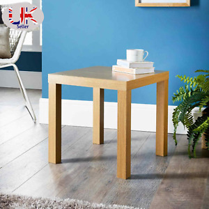 Oak Clean Finish & White Finish Croft Side Table Living Room Decor