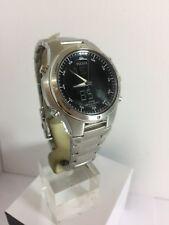 Pulsar Men's Dual Time  Digital Analogue Stainless Steel Bracelet Watch PM7009X1