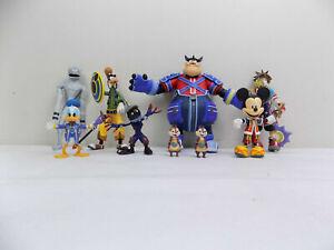 Disney Kingdom Hearts 9x Figures Lot Sora Mickey Donald Goofy Pete Dusk Shadow