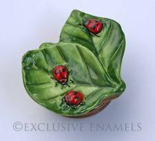Halcyon Days Enamels Ladybirds Ladybugs Porcelain & Enamel Bonbonniere
