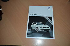 CATALOGUE Volkswagen Golf GTi Adidas de 2010 Suisse