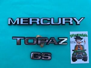 1984 1985 1986 Ford Mercury Topaz GS Trunk Emblem Badge Ornament Nameplate