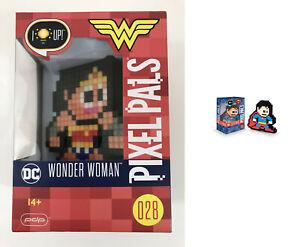 PDP Pixel Pals: Superman #29 & Wonder Woman Pixel Pals #028 Light Up Collectible