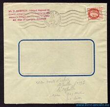 █ Enveloppe commerciale à fenêtre n°517 OMEC Nancy R.P du 22 Juillet 1942 █