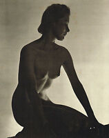 Original Vintage Art Deco Female Nude Everard Photo Gravure Print 40s14