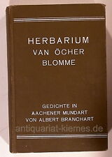 Herbarium van Öcher Blomme Gedichte in Aachener Mundart 1926 Branchart Aachen