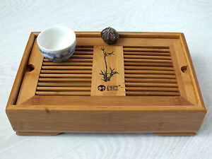 CHINESE GUNGFU GREEN TEA BAMBOO SERVING TRAY JAPANESE SUSHI STARTER PLATE PARTY