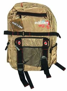 Sublime Hibiscus Flowers Gold Nylon 420 Backpack Bag NWT