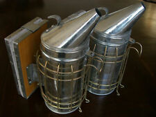 2 x Large Stainless Steel Beekeeping Smokers