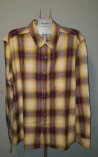 Topman Flannel Yellow Check Men Shirt LUMBERJACK BRUSHED COTTON PLAID Size XXL