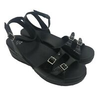 Dansko Sandals Size 42 Ankle Strap Black Patent Leather