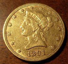 US 1891 Gold Eagle AU Liberty Head Cleaned
