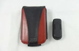 Sena Leather Case for HP iPAQ H2210 H2215 Series - Black/Red