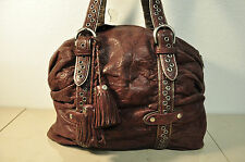 Junior Drake Burgundy Leather Satchel Handbag Purse