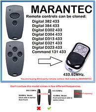 Marantec Digital D302, D304 433 Control Remoto Universal Duplicador 433.92 MHz.
