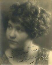 Mystery Entertainer ROSALIE SAALFELD (??) Vintage Signed Photo - 1927