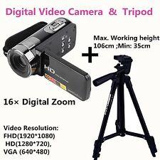"Full HD 1080P Digital Video Camera 3"" LCD 16xZoom Camcorder DV 24MP DVR+Tripod#X"