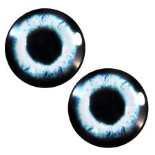 Pair of 25mm Pale Blue Mermaid Glass Eyes for Jewelry or Taxidermy Doll Making