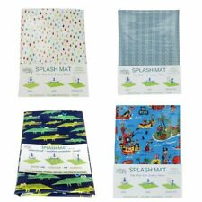 Splash Mat Highchair Mat Waterproof Washable Laminated Cotton Made In Australia