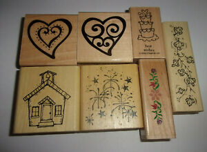 Rubber Stamps Butterfly Swirl Design Gift Tag Medium Wood Mount Wooden Mounted Stamp Craft for Teaching Card Making Scrapbooking DIY Crafts