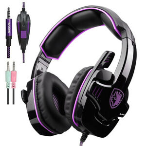 2021 Gaming Headset with Mic Volume Control, 3.5mm SADES Stereo for PS4 Xbox One