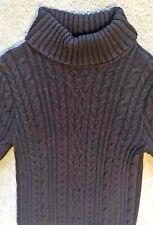 4ca05ad087 JEANNE PIERRE WOMEN S CABLE KNIT TURTLE NECK SWEATER BROWN 100% COTTON