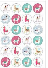 24 Precut Art Deco Happy Year 2019 Round Edible Wafer Paper Cake Toppers