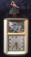 "Retro German Musical Alarm Clock With Dancing Ballerina & ""TV"" Photo Frame"