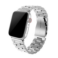 Stainless Steel Band Strap for Apple Watch Series 6, 5, 4, 3, 2, 1, and SE