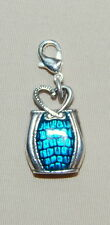 New BRIGHTON 'Corazon' handbag charm on jump ring or clip-on  FREE SHIPPING !!