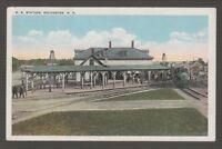 [37931] 1925 POSTCARD RAILROAD STATION, ROCHESTER, N. H.