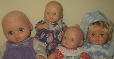 """small Baby Doll LOT OF 4 ~ Water Babies Cititoy Circo ~ 8"""" to 9.5"""" ~ Dressed"""