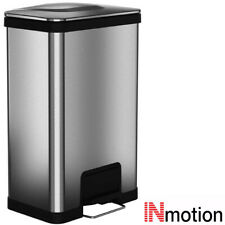 Inmotion 50L Brushed Stainless Steel Kitchen Waste Pedal Dust Bin