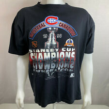 Montreal Canadiens 1993 Stanley Cup Vintage T-Shirt - Nhl Starter Black Size Xl