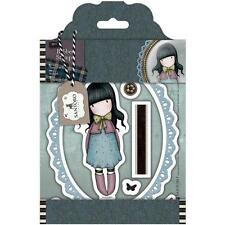 New Simply Gorjuss Urban Rubber Stamps TWEED WAITING GIRL SET SANTORO