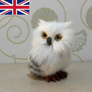 Harry Potter Realistic Hedwig Owl Toy Mini Simulation Model Christmas Gift uk